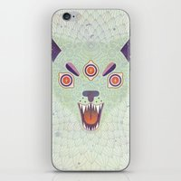cosmic iPhone & iPod Skins featuring Cosmic Cat by LordofMasks