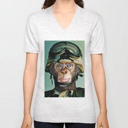 Monkey Soldier Unisex V-Neck