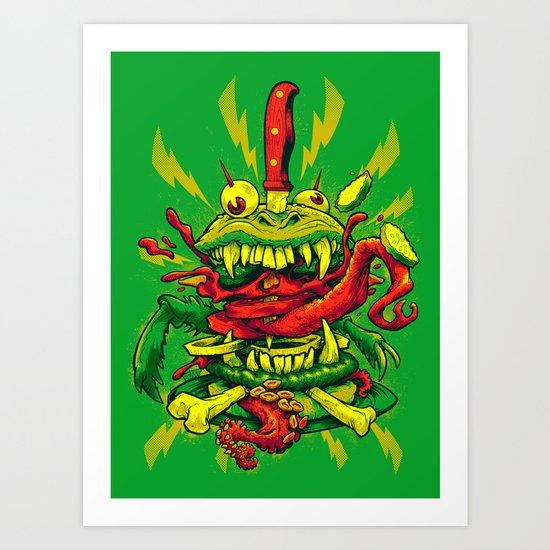 BEASTBURGER Art Print