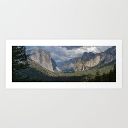Tunnelview Panorama Art Print