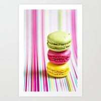 macarons Art Prints featuring MACARONS by Ylenia Pizzetti