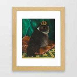 DONETE, A FANCY CHOCOLATE PERSIAN CAT Framed Art Print