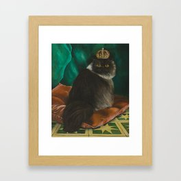 DONETE, A FANCY CHOCOLATE PERSIAN CAT Framed Art Print