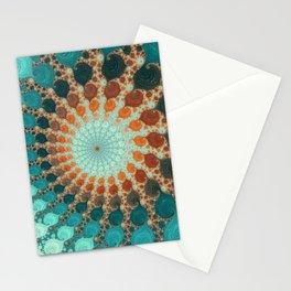 Tangerine Treat - Fractal Art  Stationery Cards