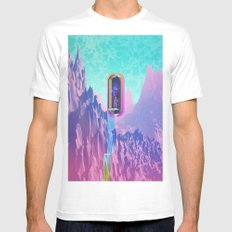 Cosmic Drain MEDIUM Mens Fitted Tee White