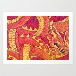 Coiled Dragon Art Print