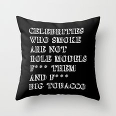 Smoking In memory of my Father Throw Pillow