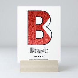 Bravo - Navy Code Mini Art Print