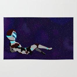 Floating in space Rug