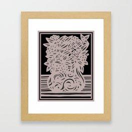 Art, Print, Art Print, Drawing Flowers, Home Decor, Print Botanical, Drawing Flowers, Line Drawing F Framed Art Print