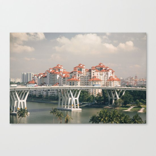 Red rooftops Canvas Print