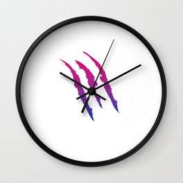 Bisexual Pride Flag Ripped Funny Bi Scratch LGBT Gift Design Cool Pun Humor Wall Clock