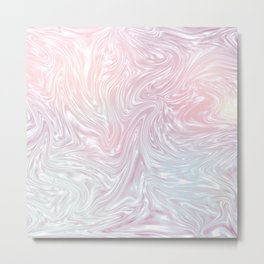 Holographic Silk I. Metal Print