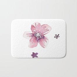 Lilac Pink Watercolour Fiordland Flower Bath Mat