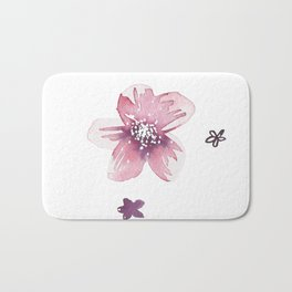 Lilac Pink Watercolour Fiordland Flower Bath Mat