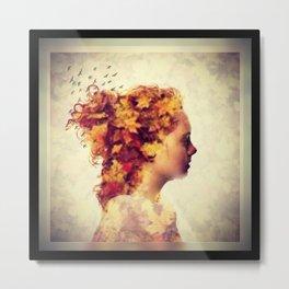 Golden Girl Metal Print