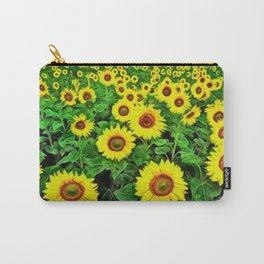 Sunflower Fields Forever, Landscape Painting by Jeanpaul Ferro Carry-All Pouch