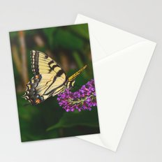 Butterfly feeding on flowers 3 Stationery Cards