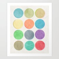 dots Art Prints featuring dots by Mareike Böhmer