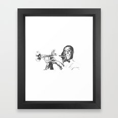 Louis Armstrong, Satchmo or Pops Framed Art Print