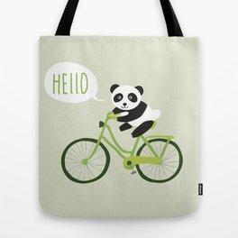 Bike panda Tote Bag