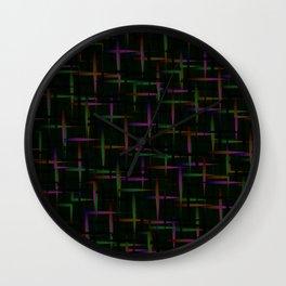 Neon Meteors Wall Clock