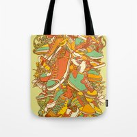shoe Tote Bags featuring If the Shoe Fits by Alvaro Arteaga