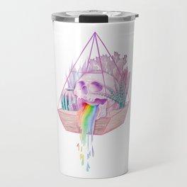 Rainbow Skull Succulent Crystal Garden Travel Mug