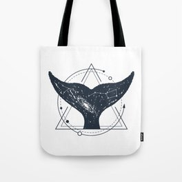 Tail Of A Whale. Geometric Style Tote Bag