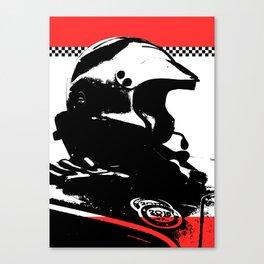 """Racing Helmet Design"" - Classic Cars Lovers Canvas Print"
