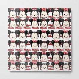 Minnie Mickey Tsum tsum pattern Metal Print