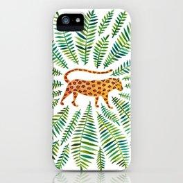 Jaguar – Green Leaves iPhone Case