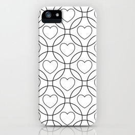 Decor with circles and hearts iPhone Case