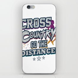 Cross Country Go the Distance Runner Gift iPhone Skin