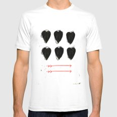CUORE Mens Fitted Tee SMALL White