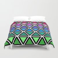 triangle Duvet Covers featuring Triangle by Laura Maria Designs