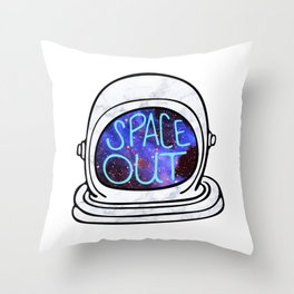 Space Out Throw Pillow