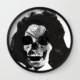 Norman Bates' Auntie Liz (Liz Taylor Skullface) Wall Clock