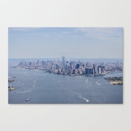 City by the Water Canvas Print
