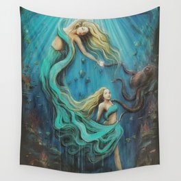The Mermaid's Gift Wall Tapestry