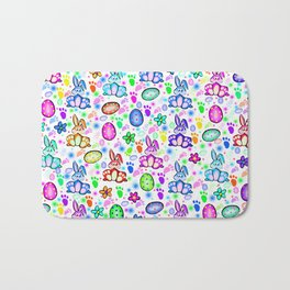 Easter Bunny Rainbow Party Bath Mat