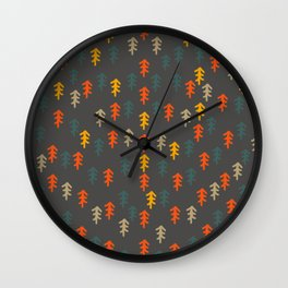 Little Christmas trees Wall Clock