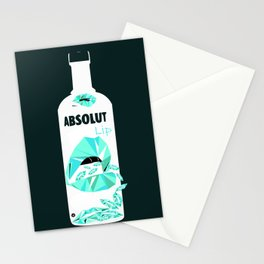 ABSOLUT LIP Ice Green Edt Stationery Cards