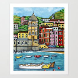 Colours of Vernazza Art Print