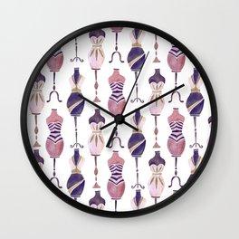 Vintage Dress Forms – Mauve Palette Wall Clock