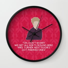 A Study in Pink - Mrs Hudson Wall Clock