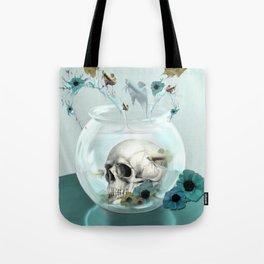 Looking glass skull Tote Bag