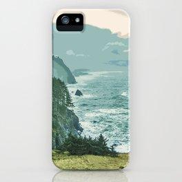 Oregon Coast Sunrise in Simplified Color iPhone Case