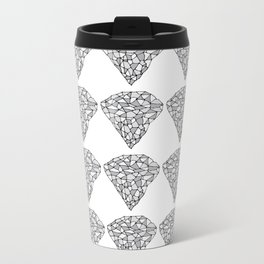 Diamond Repeat Pattern Metal Travel Mug
