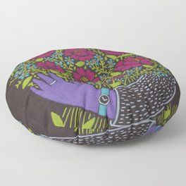 I Picked You These Flowers Floor Pillow